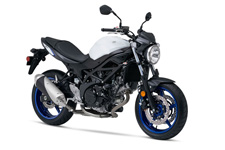 For 2017, Suzuki introduces a new version of an iconic motorcycle that embodies the sporty personality that only a lively, mid-sized V-twin roadster can deliver. The new SV650 has a polished powerplant that provides increased performance with low emissions and outstanding fuel economy, mated to refined trim and lightweight chassis that delivers a sporty, exciting ride. In addition, the SV650 has a new Low RPM Assist feature that seamlessly adjusts engine speed during take-off and low-speed running to smooth the power delivery and to help eliminate the possibility of the rider stalling the motorcycle. Like its predecessors, the 2017 SV650 promises to have the sparkling performance, style and value that a broad range of riders will enjoy. Also available with ABS.